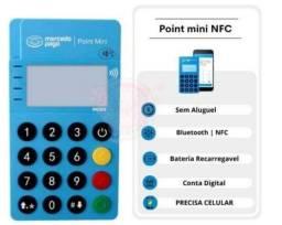 Título do anúncio: Máquininha leitora de cartão Point Mini via bluetooth do mercado pago aproximação e NFC