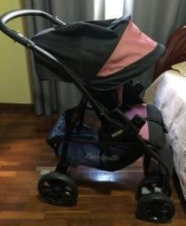Carrinho Burigotto + Cadeira de Bebê (bebê conforto)
