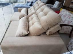 Sofá retrátil e reclinável Super