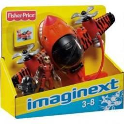 Imaginext Avião Sky Racer Tubarão Tigre Fisher Price