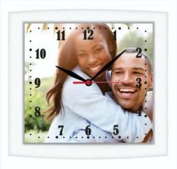 Relógio de parede com sua foto