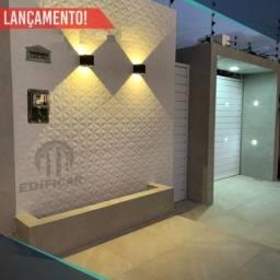 Casa Nova 125m2 Piso Porcelanato, Bairro Luiz Gonzaga