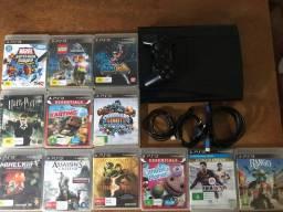 Playstation 3 Ps3 Super Slim + 12 Jogos originais