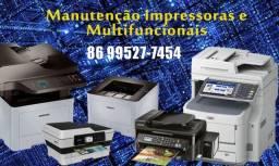 Manutenção de impressoras e recarga