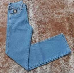 Calças Jeans Custura dupla