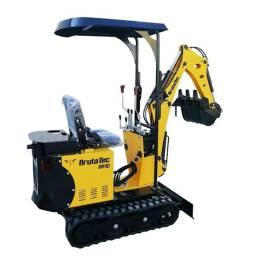 Mini Escavadeira BR10C - Cabine Aberta com Cobertura - máquina nova