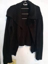 Blusa de lã Preta Barred's