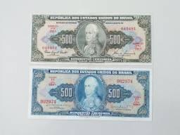 C047 e C103 Nota Antiga de 500 Cruzeiros