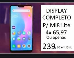 Display Completo / Tela Para Xiaomi Mi 8 lite já instalada