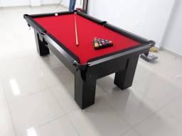Mesa de Bilhar Charme Preta Tx Tecido vermelho Modelo KDJ5454