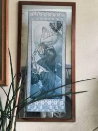 Quadros exóticos com tema sobre meditação com fundo espelhado