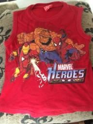 Camiseta para criança de 7 anos da Marvel