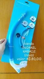 Kit NATAÇÃO Nabaiji (snorkel, óculos de natação e touca e touca de natação)