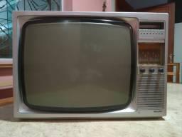 Título do anúncio: TV P&B Antiga Vintage Retrô Philips Década de 70!!!