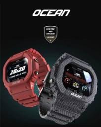Relógio smartwatch Lokmat unissex  cor oceano rastreador pressão freq cardíaca  android