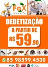 Título do anúncio: Dedetizadora Dedetização - Detetização - 9 8 5 9 9 4 5 3 0 - Controle de pragas