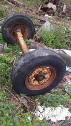 Eixo carroça de trator