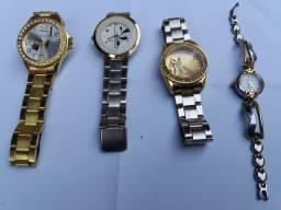 4 relógio feminino pouco uso
