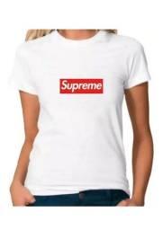 Camiseta Camisa Supreme Baby Look - Promoção