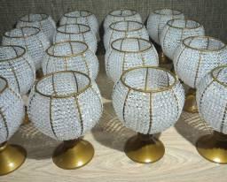 Vasos Bordados Pedrarias 20 cm