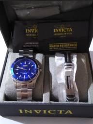 Invicta Swiss Made Blue Kit Pulseira