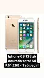 Zerado iphone 6S 128gb dourado! Entrega em mãos em Medianeira e região!