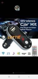Transmissor Fm Sem Fio Mp3 Player Kit Mãos Livres Carro
