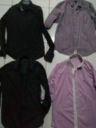 Camisas Sociais veste P M