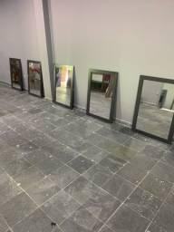 8 espelhos com moldura em mdf acetinado
