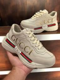 Título do anúncio: Tênis Gucci Rhyton Couro (L.A) - 349,99