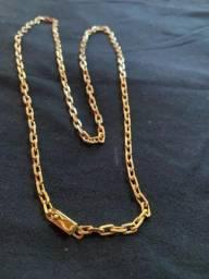 Cordão moeda antiga idêntico a ouro