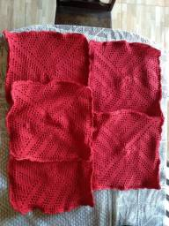 Lindas capas de almofadas de crochê.