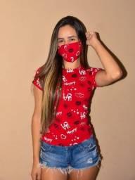 Blusas com máscara adulto de 25,00 por 15,00