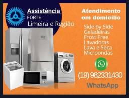 Título do anúncio: Geladeira, máquina de lavar, microondas e lava e seca