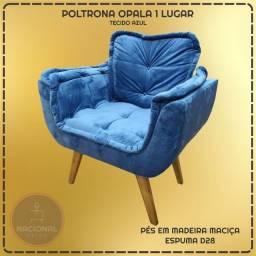 Poltrona Opala Azul - Pague em 12x