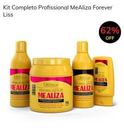 Kit Completo Profissional MeAliza Forever Liss