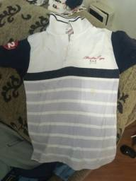Camiseta gola polo manga curta N 8