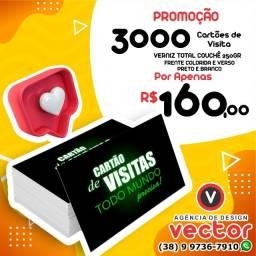 Título do anúncio: Promoção 3000 Cartões de Visita