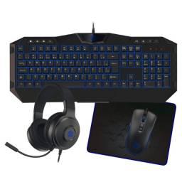 Kit Gamer 4x1 Com Led Modelo Tpc-067az Azul - Loja Natan Abreu
