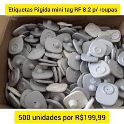 Título do anúncio: oferta 500 Etiquetas Rígidas minitag RF8.2