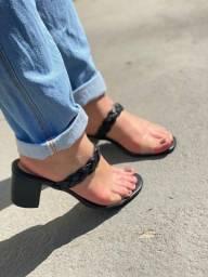 Sandália Salto em Bloco