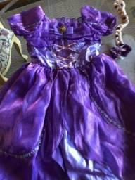 Fantasia Rapunzel 4/7 anos
