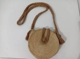 Título do anúncio: Bolsa artesanal Crochê Palha