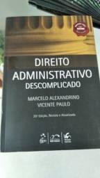 """Livro """"Direito Administrativo Descomplicado"""" - Marcelo Alexandrino e Vicente Paulo"""