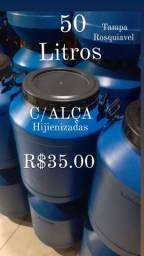 Bombonas Tambores 50 lt alimentícias c/ALÇA