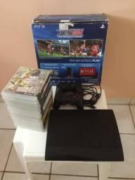 PS 3 + 15 jogos por R$ 1.300