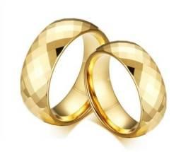 Par de Alianças banhadas a Ouro