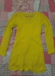 Vendo Vestido de Croché Amarelo