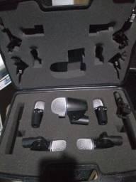 Kit Microfone De Bateria Jts 7 Pçs+clamps+multicabo+Cabos santo Ângelo