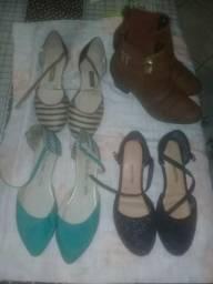 Mini lote de sapatos pra sair hoje bem a preço de desapego 50 reais os 4 pares